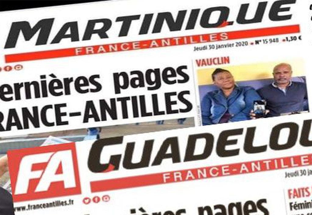 journal france antilles, publicité encart journaux antilles