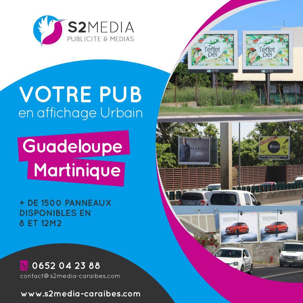 panneaux affichage guadeloupe, panneaux affichage martinique, agence de publicite