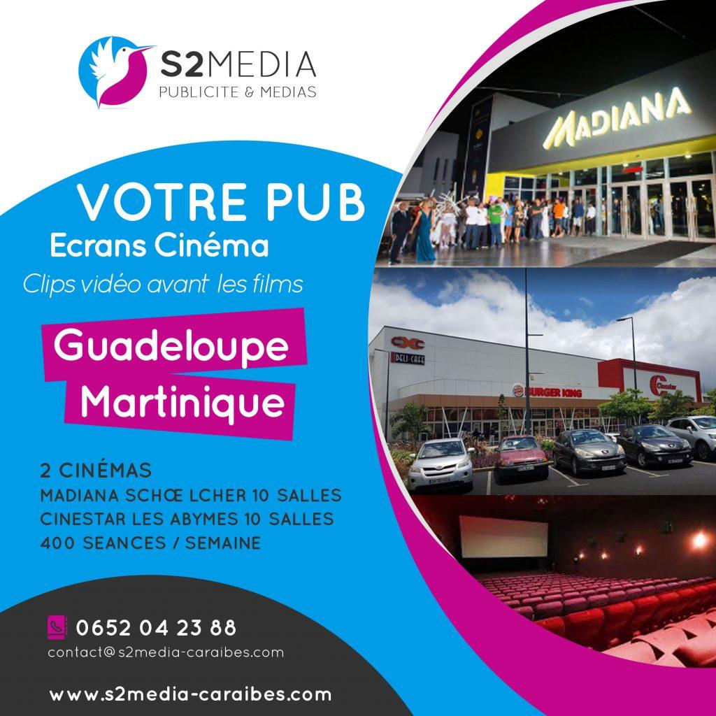 publicité cinéma martinique, publicité cinéma guadeloupe, spot publicitaire cinéma, spot vidéo cinéma