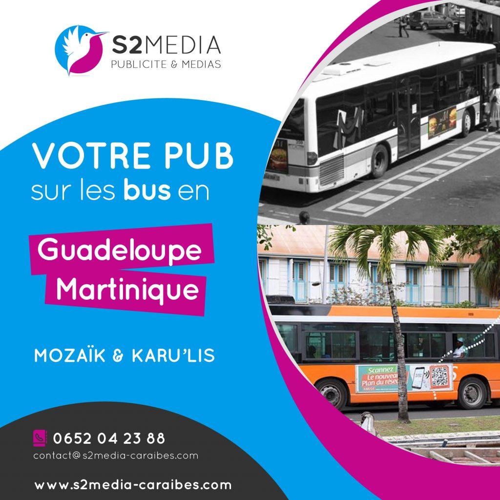 publicité bus guadeloupe, affichage bus guadeloupe, agence de publicité guadeloupe